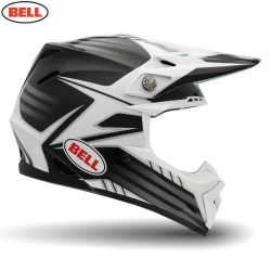 Bell 2014 MX Helmet (Adult) Moto 9 Carbon Pinned White