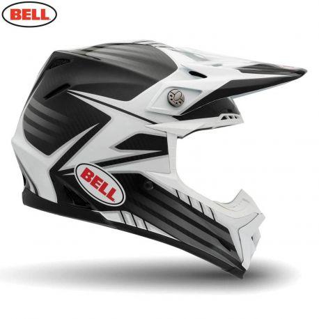 Bell 2014 MX Helmet (Adult) Moto 9 Carbon Pinned White