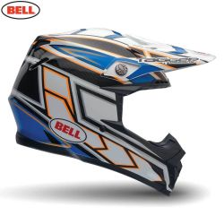 Bell 2014 MX Helmet (Adult) Moto 9 Carbon Tagger Clash Blue