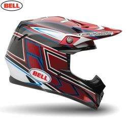 Bell 2014 MX Helmet (Adult) Moto 9 Carbon Tagger Clash Red