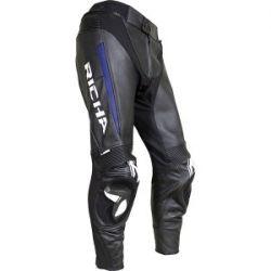 Richa Rebel Leather Jeans Black/Blue