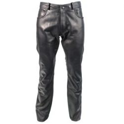 Richa Rebel Leather Jeans Black/Blue