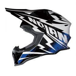 Nolan N53 MX COMP Metal White/Blue