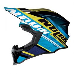 Nolan N53 MX FLAXY Metal Black/Blue/Yellow