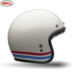 Bell Street 2016 Custom 500 Adult Helmet Stripes Pearl White