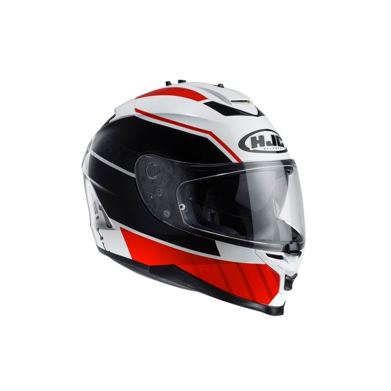 2dea8be2 HJC IS-17 Trident Red White Black - Poole MOTO