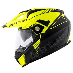 KAPPA KV30 ENDURO HELMET WITH VISOR FLURO BLACK