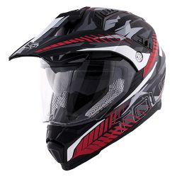 KAPPA KV30 ENDURO HELMET WITH VISOR CAMOUFLAGE RED/GLOSS BLACK