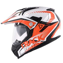 KAPPA KV30 ENDURO HELMET WITH VISOR ORANGE WHITE