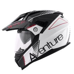 KAPPA KV30 ENDURO HELMET WITH VISOR WHITE GREY