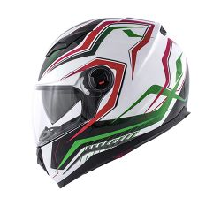 KAPPA KV DENVER HELMET GREEN RED WHITE