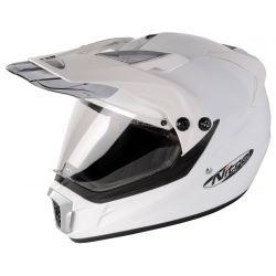 Nitro MX450 Moto X Style Road Helmet White