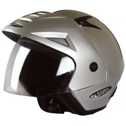 Nitro X512-V Open Face Helmet Silver