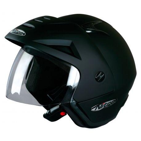 Nitro X512-V Open Face Helmet Satin Black